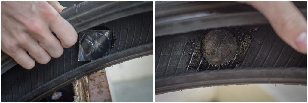 réparer un pneu moto de façon définitive avec un patch