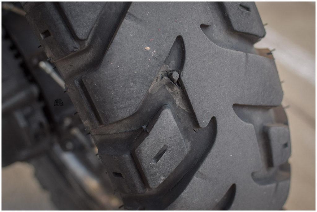 pneu réparé ! avec patch